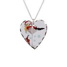 Santa Girl Martini Necklace