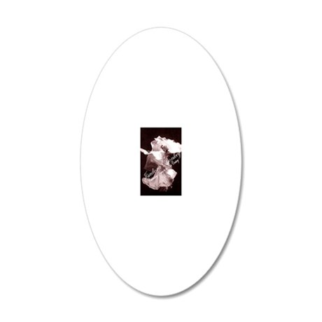 Isadora 7.5x5 20x12 Oval Wall Decal