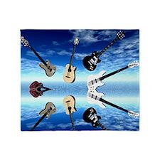 Guitars2 Throw Blanket