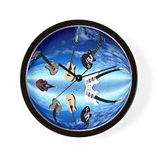 Guitarsclock2 Wall Clock