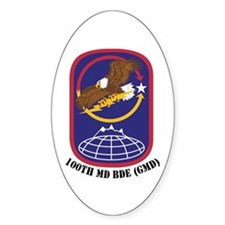 100th Missile Defense GMD Oval Decal