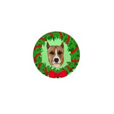 pitbull christmas Mini Button