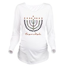 2010 New Chanukah de Long Sleeve Maternity T-Shirt