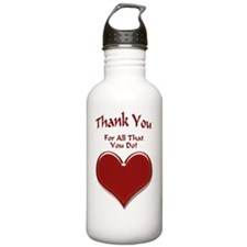 Thank You Heart Sports Water Bottle