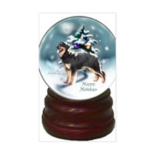 hovawartchristmassnowglobe Decal