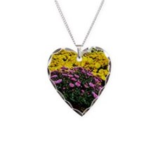 COLORFUL MUMS Necklace Heart Charm