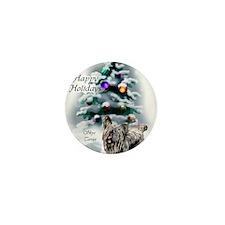 skyeterrierchristma card Mini Button