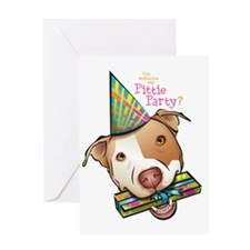 Pittie Party HUGE Greeting Card