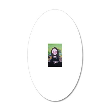 MYMONALISA 20x12 Oval Wall Decal