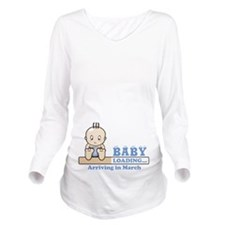 Arriving in March Long Sleeve Maternity T-Shirt