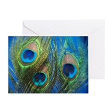 fisheye peacock Greeting Card