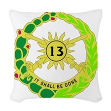 DUI-13TH CAVALRY RGT Woven Throw Pillow
