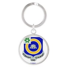DUI-41ST INFANTRY REGIMENT WITH TEX Round Keychain