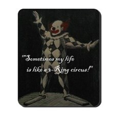 tshirt design laugh clown  Mousepad