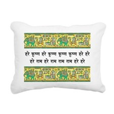 mantra_elephant_stamp Rectangular Canvas Pillow