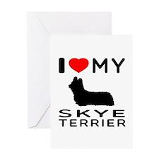 I love My Skye Terrier Greeting Card