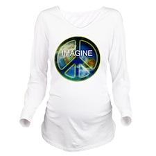 peace sightx2nfont c Long Sleeve Maternity T-Shirt