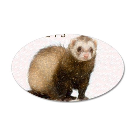 ferretcalcover 35x21 Oval Wall Decal