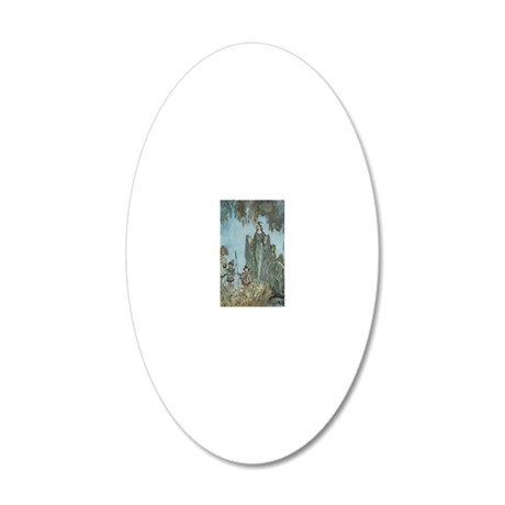 Fairy Queen Procession 20x12 Oval Wall Decal