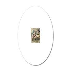 Fairies and Sleeping Beauty 20x12 Oval Wall Decal