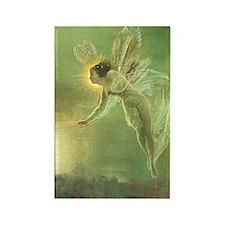 Mystical Lake Fairy Rectangle Magnet