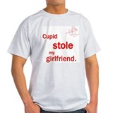 Cupid Stole My Girlfriend Ash Grey T-Shirt