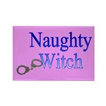 Naughty Witch Rectangle Magnet
