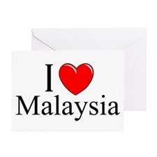 """I Love Malaysia"" Greeting Cards (Pk of 10)"