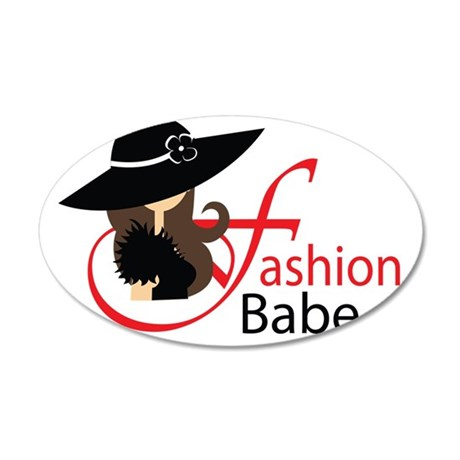 fashion babe cup 35x21 Oval Wall Decal