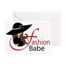 fashion babe cup Greeting Card