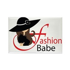 fashion babe cup Rectangle Magnet