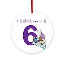 Little Bookworm Custom Age Ornament (Round)