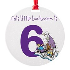 Little Bookworm Custom Age Ornament
