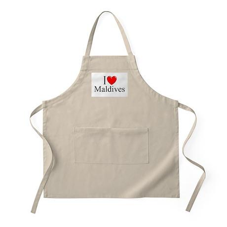 """I Love Maldives"" BBQ Apron"