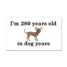40 birthday dog years chihuahua 2 Rectangle Car Ma