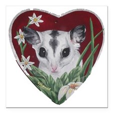 "marcell heart cutout Square Car Magnet 3"" x 3"""