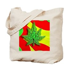 crazy rasta stripes n leaf Tote Bag