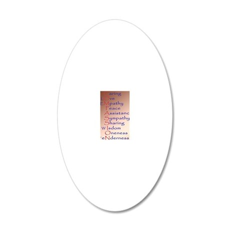 443_iphone_case compassion 20x12 Oval Wall Decal