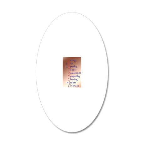 441_iphone_case compassion 20x12 Oval Wall Decal