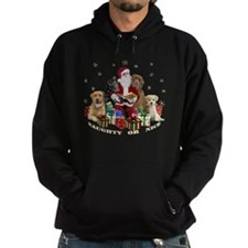 Labs with Santa Naughty or Nice gifts Hoodie