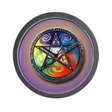 pentacle elements i-phone slider Wall Clock