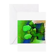 Lumbar Green 1 Greeting Cards