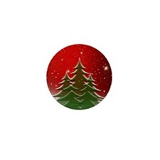Christmas Trees with Stars Mini Button