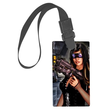SciFi_Journal Large Luggage Tag