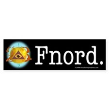 Golden Apple Fnord Black Bumper Bumper Sticker