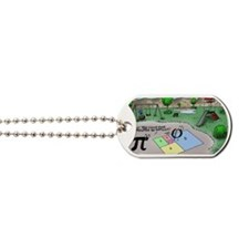 Pi_65 Fibonacci Hopscotch (7.5x4.5 Color) Dog Tags