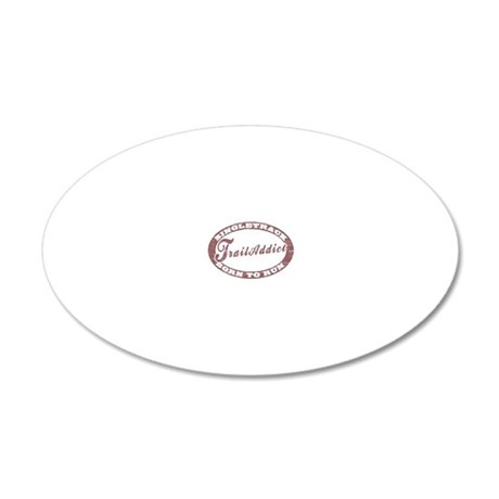 TraillAddict_Runner 20x12 Oval Wall Decal