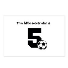 Little Soccer Star Custom Age Postcards (Package o