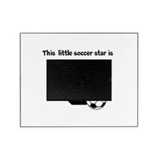 Little Soccer Star Custom Age Picture Frame