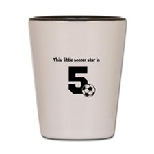 Little Soccer Star Custom Age Shot Glass